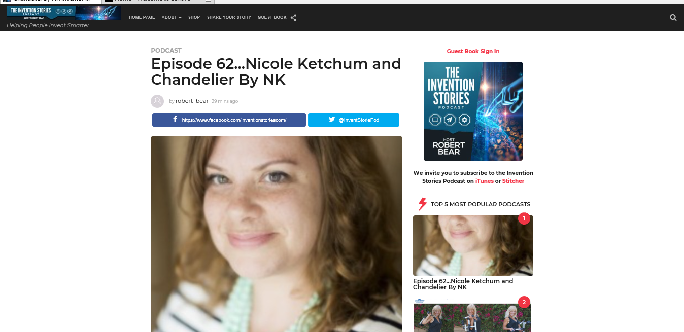 Chandelier By NK inventor Nicole Ketchum is Episode 62 of